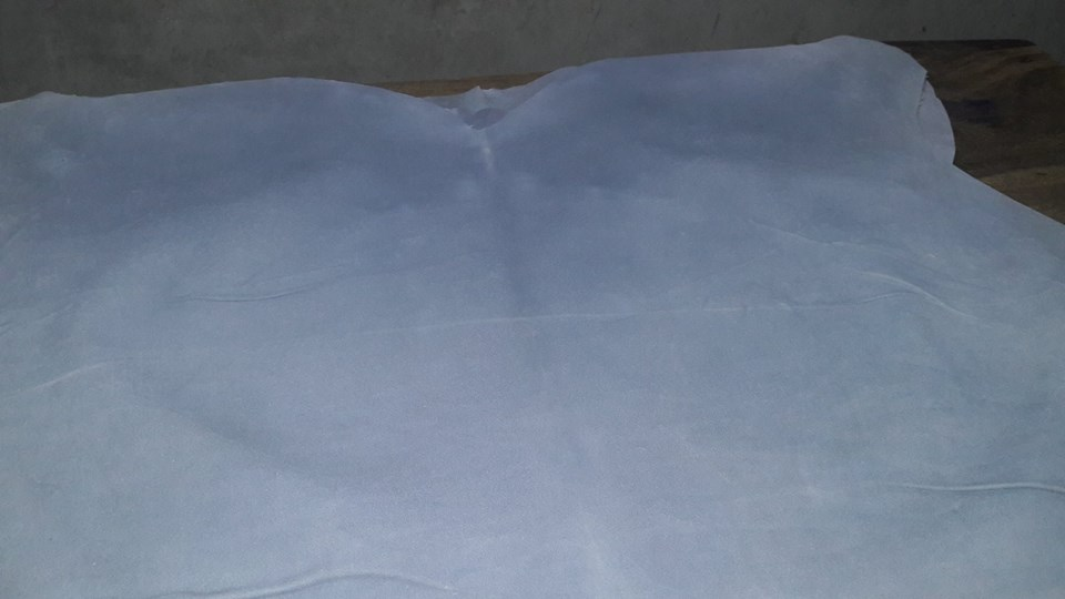 Wet blue cow split leather