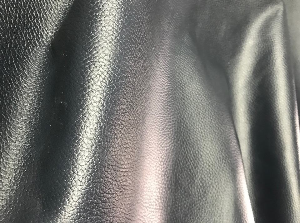 cow natural milled finish leather